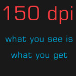 150 dpi – Low Resolution Art