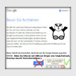 Bevor Sie fortfahren – Disable Google Overlay!